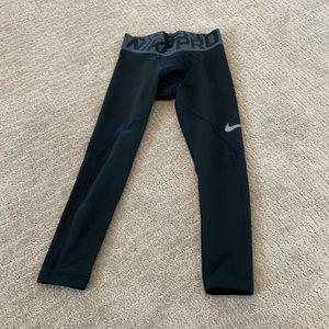 Boys Nike pro compression small black pants